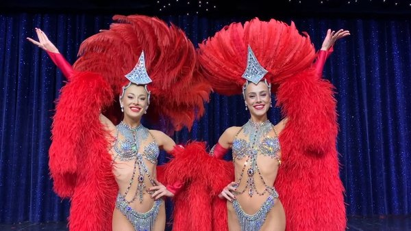Isabelle and Claudine van den Bergh Cooke are dancers with the Moulin Rouge in Paris