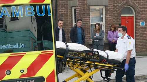 Carrigstown is in shock as Will's body is removed from the house