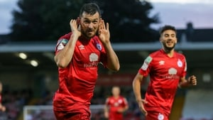 Ryan Brennan of Shelbourne celebrates after scoring his side's first goal