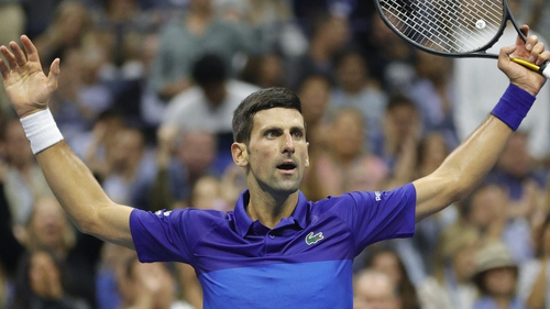 Novak Djokovic progressed to his first US Open final in three years