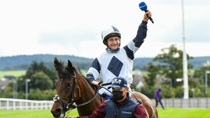 Shane Foley and No Speak Alexander after their victory at Leopardstown
