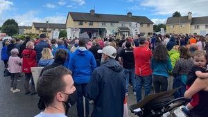 The demonstration was organised by the Lifford Mica Group and the 100% Redress NO LESS group