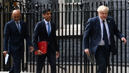 Sajid Javid (left) insisted the move was not a 'wobble' due to opposition from Tory MPs