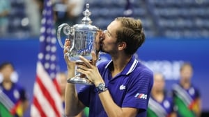Daniil Medvedev hammered down 16 aces in the final
