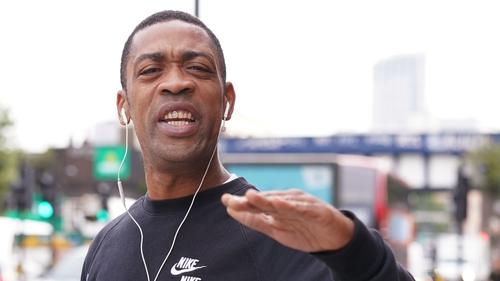 Rapper Wiley outside court