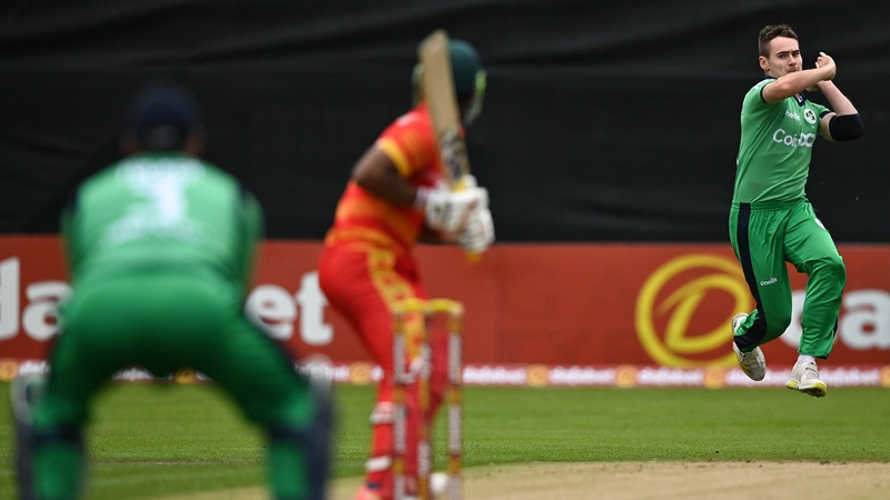 Josh Little bowled well for Ireland taking 3 for 33