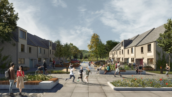 An artist's impression of the development in Killinarden