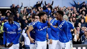 Everton put three past Burnley