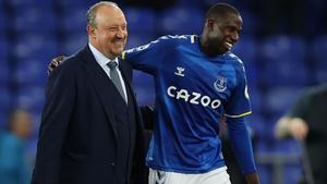 Rafael Benitez with Abdoulaye Doucoure