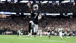 Zay Jones celebrates scoring the the game-winning touchdown
