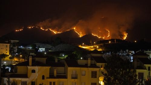 The blaze in the Sierra Bermeja mountains near Estepona begain last week
