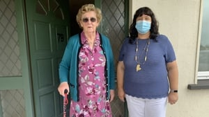 Meals on Wheels user Bridget McGrath with Alice Kiersey of the Dr Martin Day Centre