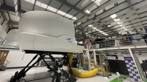 The facility contains three full motion simulators as well as two fixed base simulators