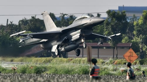 Taiwanese fighter jets practised taking off and landing on a provincial highway in Pingtung county