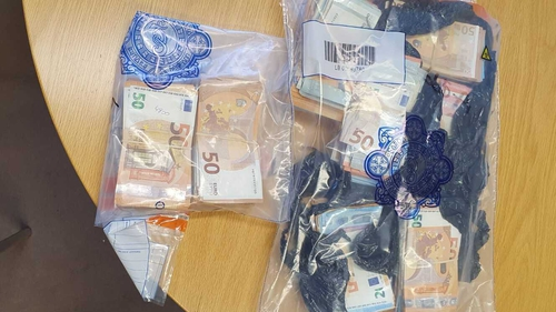 Almost €70,000 in cash was seized during the searches