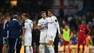 Pascal Struijk was consoled by Liam Cooper after the incident which left Harvey Elliott with a serious injury