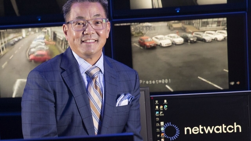 Netwatch Global CEO Kurt Takahashi in the Video Monitoring Centre of Netwatch's Hub in Carlow
