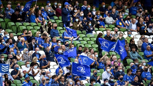 Leinster welcomed roughly 10,000 fans to the Aviva Stadium last Friday