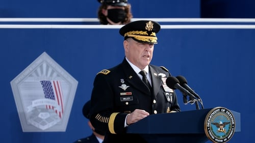 A spokesman for chairman of the Joint Chiefs of Staff, General Mark Milley, made a statement today