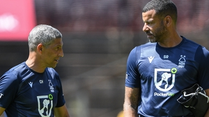 Steven Reid (right) takes interim charge following Chris Hughton's (left) sacking