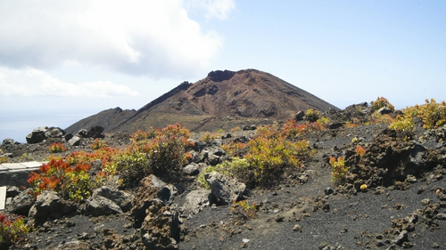 Cumbre Vieja is an active although dormant volcanic ridge in the south of La Palma