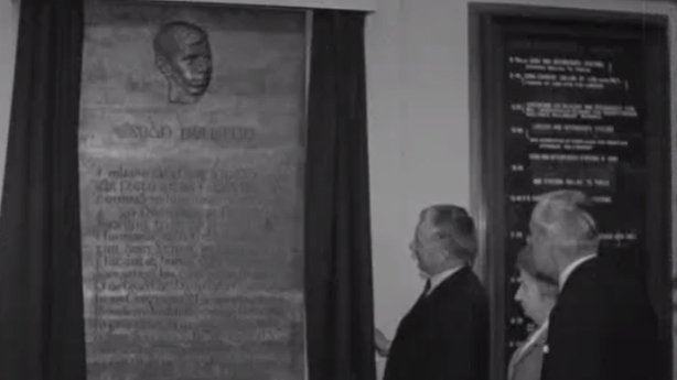 Seán Heuston plaque unveiled at Heuston Station, Dublin (1966)