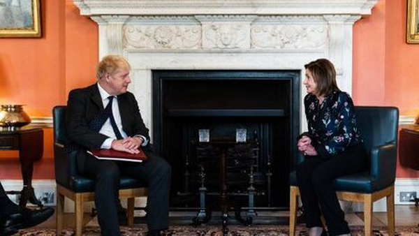 Boris Johnson and Nancy Pelosi met at Downing Street