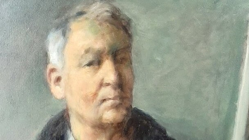 Self portrait of Thomas Ryan which was part of an exhibition of his work in Limerick in 2019