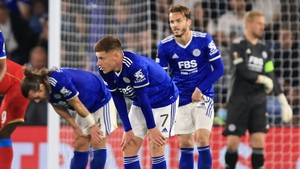 The Leicester City players were left disappointed at the full-time whsitle