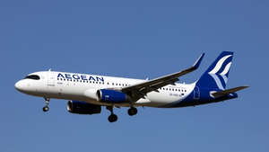 Aegean Airlines said it flew 1.2 million passengers on 15,000 flights in the three months from April to June