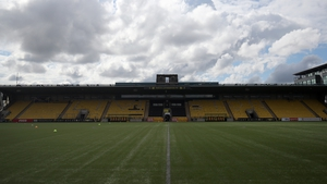 The pitch at the Tony Macaroni Arena is a 4G synthetic grass surface