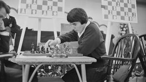 Nona Gaprindashvili of the Soviet Union, pictured playing a game of chess at the International Chess Congress in London in 1964