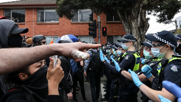 Protests took place in Melbourne and Sydney today