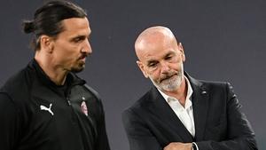 Zlatan Ibrahimovic and Stefano Pioli