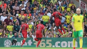 Ismaila Sarr celebrates as his double helped Watford to all three points at Carrow Road