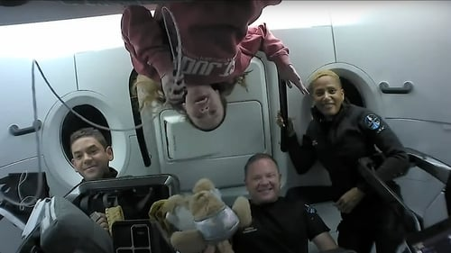 The crew released footage of what life was like for them orbiting Earth in capsule