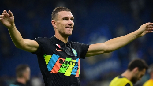Edin Dzeko hit two goals in five second-half minutes