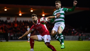 Shamrock Rovers moved 11 ahead of Sligo following the win at the Showgrounds