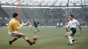 Jimmy Greaves in action against Wales in November 1962