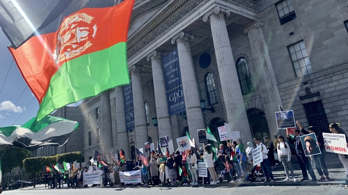 Most of the protesters are drawn from Ireland's Afghan community, many of who came here when the Taliban took power in Afghanistan in the 1990s