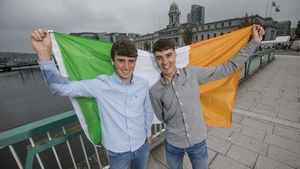 Cormac Harris and Alan O'Sullivan from Coláiste Choilm followed their win last year with success on the European stage
