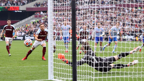 David De Gea saves a last minute penalty from just-introduced sub Mark Noble