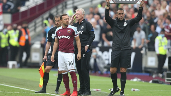 Mark Noble was sent on to earn his side a point - it didn't go to plan
