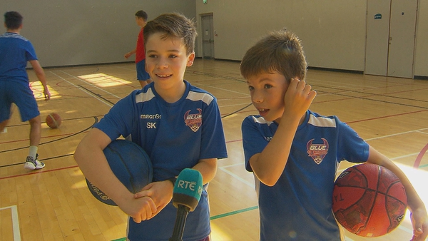 Ten-year-old Sean and nine-year-old Ross Kearney say they are most excited among getting back to matches and meeting their friends