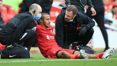 Thiago will miss two games for Liverpool