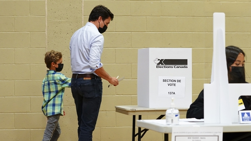Justin Trudeau said he felt 'serene' after casting a ballot in Montreal