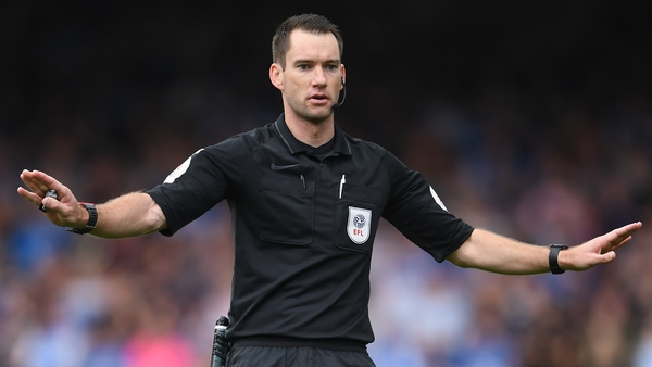 Jarred Gillett officiated the Championship match between Peterborough United and Birmingham City at the weekend
