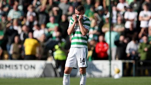 David Turnball during Celtic's 1-0 loss to Livingston