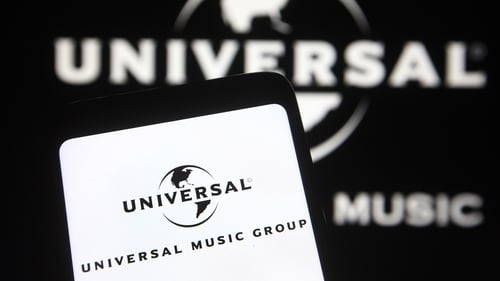 Universal Music Group's shares surged at the start of trading today in the biggest European listing of the year