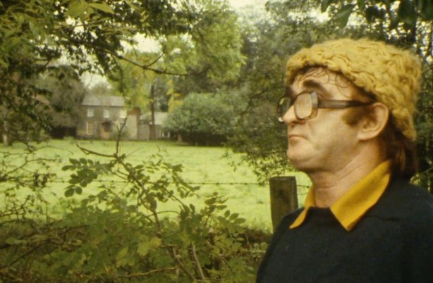 Local historian Frank Martin at Frenchpark House in County Roscommon (1981)